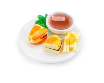 Miniature Sandwich Plate with Fries ~ Dollhouse Food~ Diorama ~ Fairy Garden