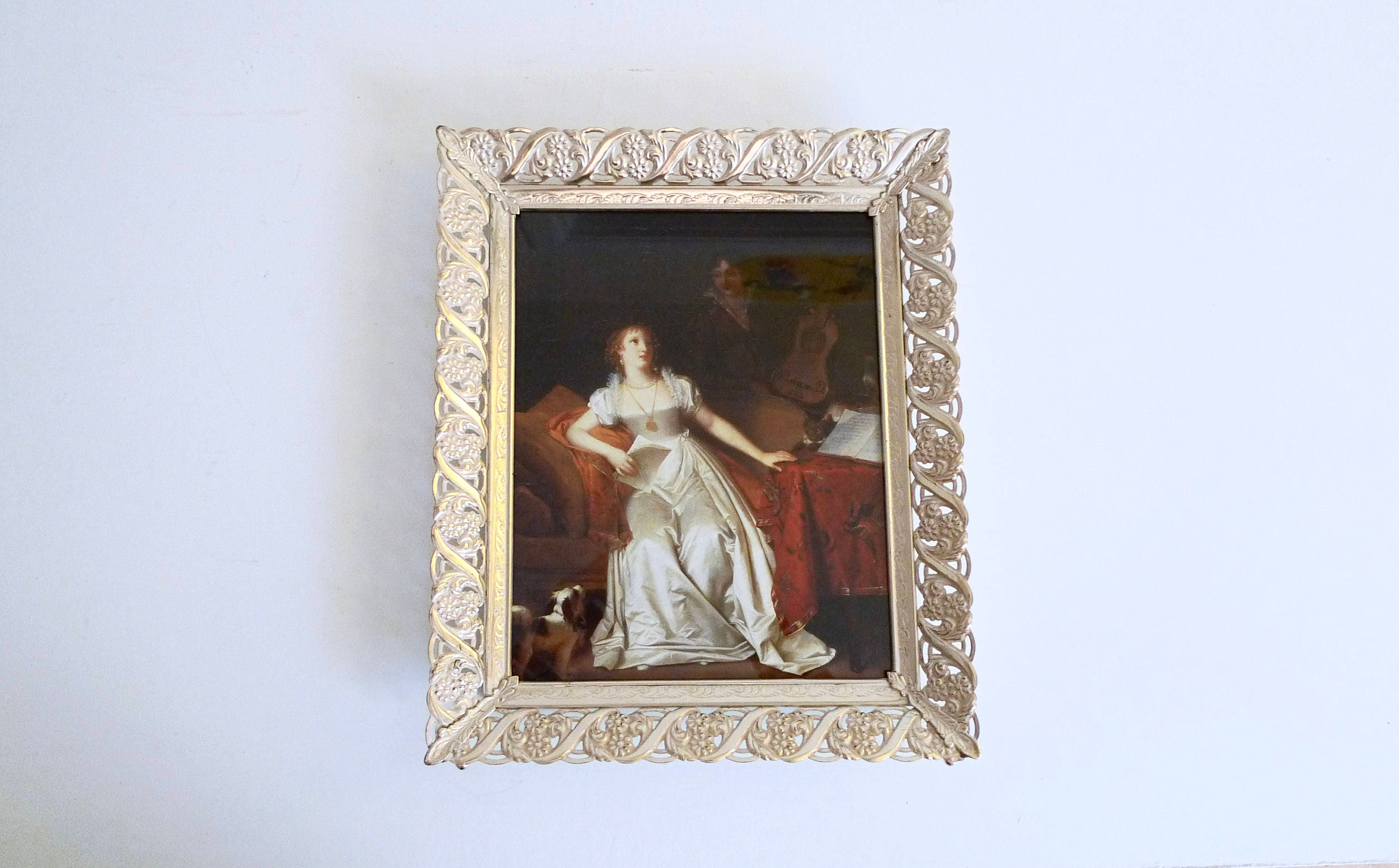 Vintage Picture Frame 8 x 10 - Hollywood Regency Gold Embossed ...