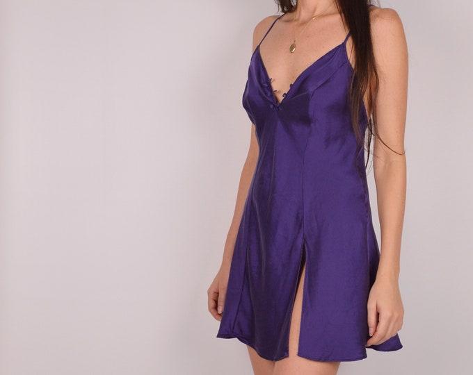 Vintage SILK Mini Slip Dress / Sz S