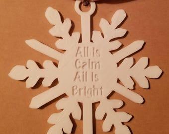 Christmas Snowflake Ornament
