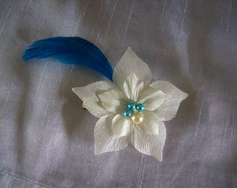 Bride bridal bridesmaid silk flower hair accessory patterns different hair clip beads feather holiday evening ceremony
