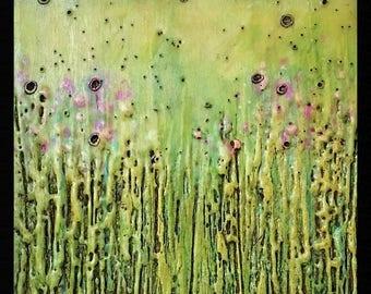 "Encaustic ""Spring Green"""