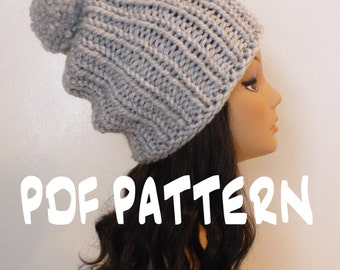 ef8182ad40f Instant download knitting pattern slouchy hat slouchy beehive jpg 340x270 Knit  etsy beehive beanie crochet pattern