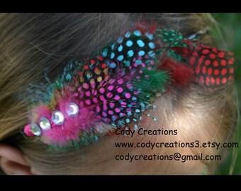 Rainbow Feather Headband