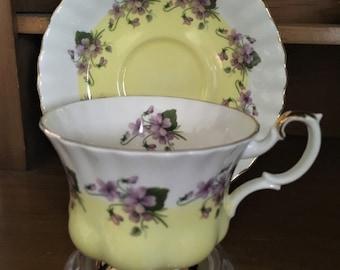 Royal Albert 4361 Violets Teacup and Saucer