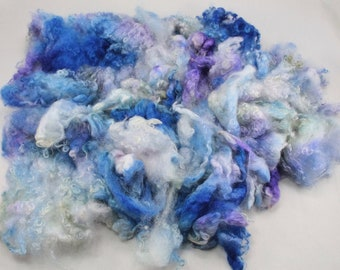 Wensleydale  locks, hand painted fiber fleece for spinning and felting, 4.4 oz
