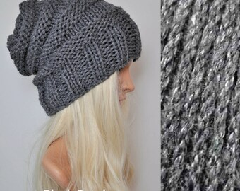 Slouchy beanie, Knit hat, Beanies, Knitted hats, Slouch beanie, Wool hat, Womens beanies, Slouch hat, Knitted hat, Bamboo beanie hat