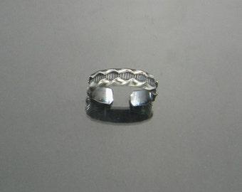 Sterling Toe Ring, Patterned Toe Ring, Midi Ring, Sterling Midi Ring, Adjustable Midi Ring, Knuckle Ring, Adjustable Toe Ring