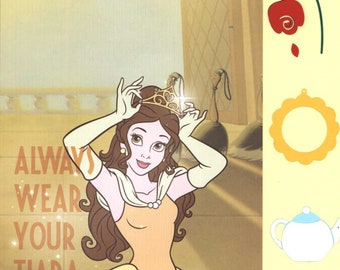 8x8 Premade Disney Princess Aurora Always Wear Your Tiara Scrapbook Page