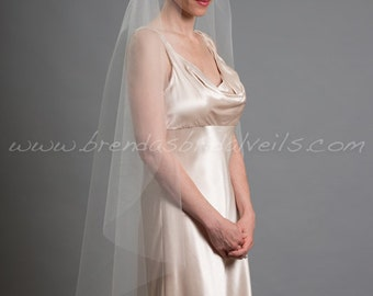 Rhinestone Grecian Cap Veil, 1920s Inspired Bridal Veil, Juliet Cap Veil - Jacinda