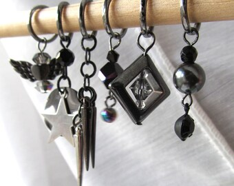 SALE - The Edge of Glory - Six Handmade Stitch Markers - Fits Up To 8.mm (11 US) - Last Sets