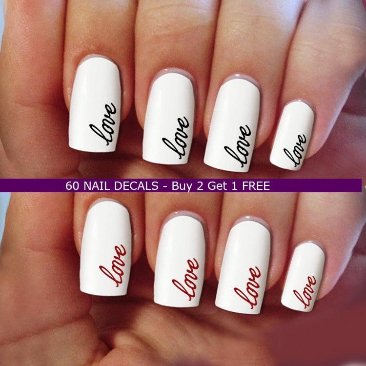 nail decals, love nail art, wedding Nail Art design, Water Slide ...