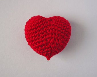 Crochet Miniature Heart - Crochet Miniature
