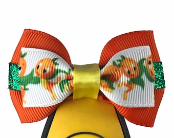 """Orange Bird Magic Band Bow or Apple Watch Bow, 2"""" Mini Hair Bow, Planner Clip Bow - Disney Parks Collection"""