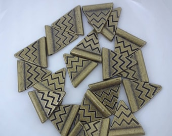 Bronze Chevron Spacer Beads