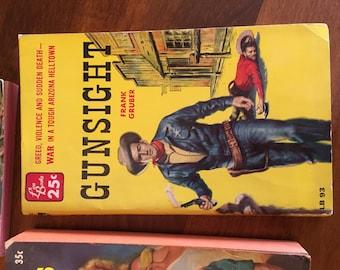1950's Western Paper Back Novels Collection