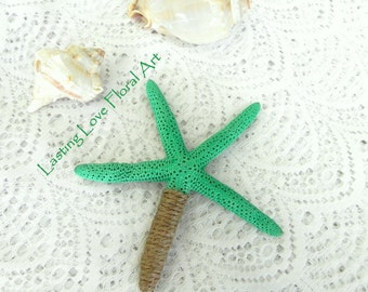Star Fish Boutonniere, Beach Wedding Boutonniere, Sea Green Star Fish Boutonniere, Beach Wedding