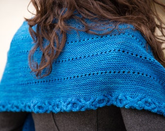 PDF KNITTING PATTERN - Pattern Only - Cable Border Scarf
