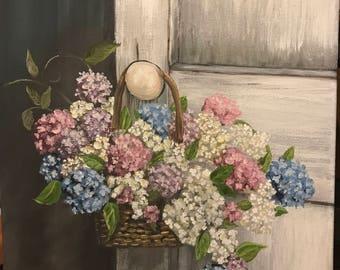 Flowers at the door