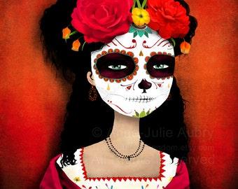 Catrina - Dia de los Muertos - Day of the Dead - open edition print - Whimsical Art