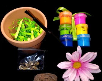 Decorate & Grow Your Own Wildflowers, Spring Painting Gardening Sensory Activity Gift Set