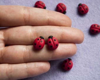 Ladybird in Fimo-Little things Collection