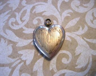 Vintage GF HEART LOCKET Pendant