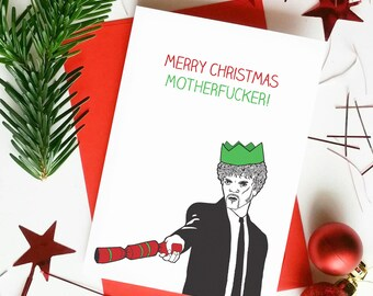 Funny Rude Christmas Card | Merry Christmas MotherFucker | Pulp Fiction