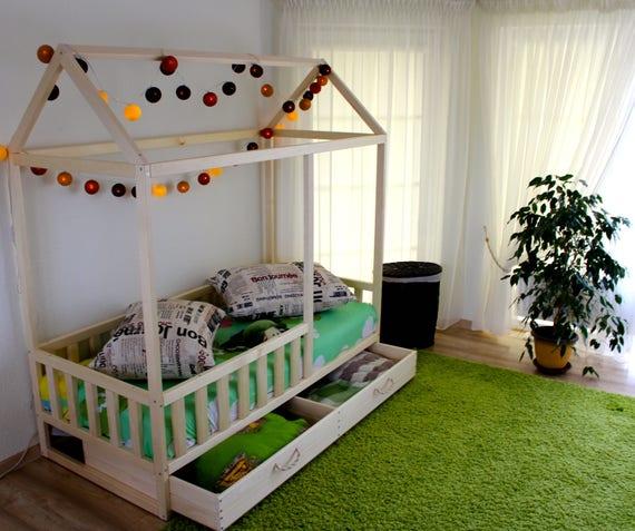 toddler bed nursery crib children bed montessori bed kid bed wood bed children home waldorf toy kids bedroom floor bed