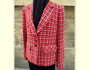 SONIA RYKIEL vintage Plaid jacket, size 42
