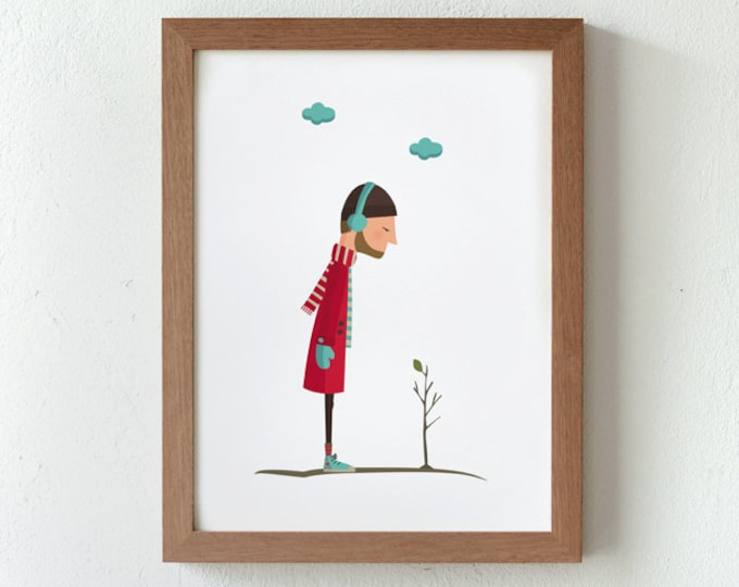 """Ilustración """"Brotes verdes""""."""