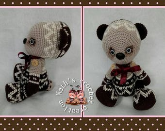 Teddy bear crochet pattern and hinged