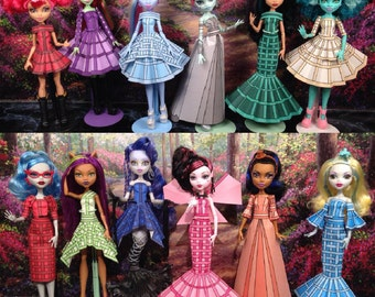 Olivia Printable Doll Clothes - Fits Monster High, Ever After High, and More