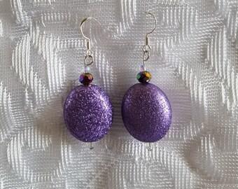 Twilight Purple Chandelier Earrings