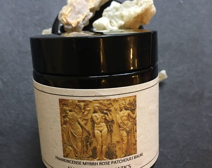 Golden Meditation Boswellic Balm with Myrrh and Rose soothing calming grounding