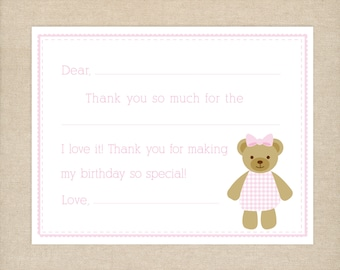 25 Printed Fill-in Thank You Cards