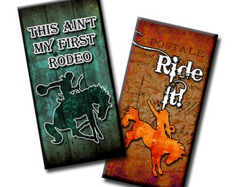Cowboy Sayings - 1x2 inches - Digital collage sheet - Instant Etsy Download