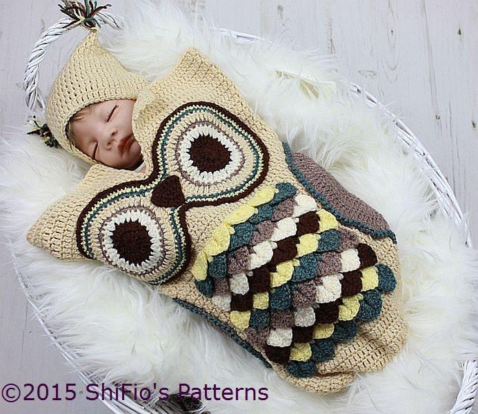 Dorable Patrón De Crochet Sombrero Del Bebé Del Búho Galería - Ideas ...