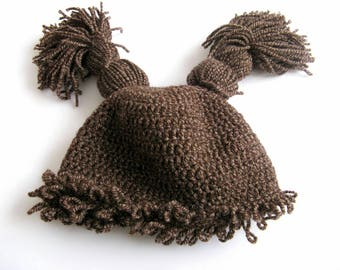Cabbage patch hat, Cabbage patch doll, Cabagge, crocheted hat