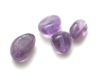 genuine Amethyst 4 rolled beads approximately 13mm