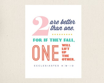 Two Are Better Than One, Printable