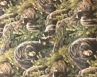 Bear cotton fabric