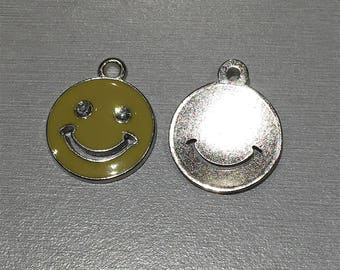 Yellow enamel smiley