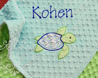Personalized stroller blanket - baby boy blanket personalized - baby shower gift - custom embroidered monogrammed - made to order