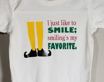 Elf the Movie - Love to Smile Onesie or toddler tee