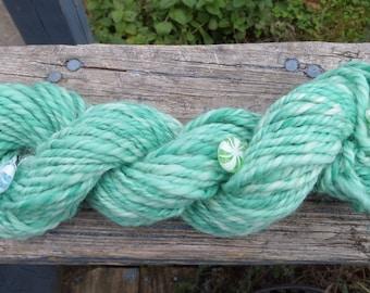 Art Yarn, Handspun Art Yarn,Christmas Candy, Bulky, 46 yards