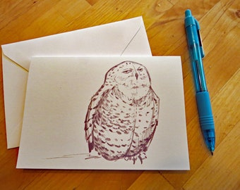Snowy Owl Notecard with Envelope
