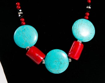 Coral/Turquoise Necklace(DF/NL/00165)