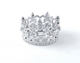 Baroque Style Royal Crown Ring