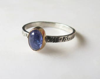 Tanzanite Ring, Stacking Ring, Custom Made, Sterling Silver, Gemstone Ring, Stackable Ring, Gift for Her, Handmade Ring, December Birthstone